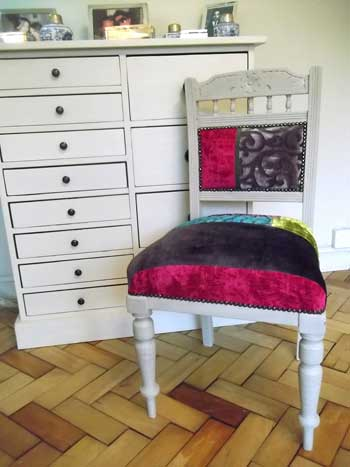 chair & chest of drawers